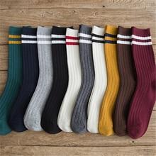 Socks for women new autumn winter stripes harajuku socks fem