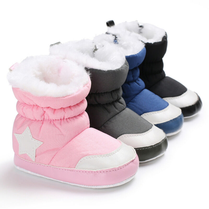Emmababy Baby Girl Boy Soft Booties Patchwork Fashion Basic Winter Snow Boots Infant Toddler Newborn Warm Shoes