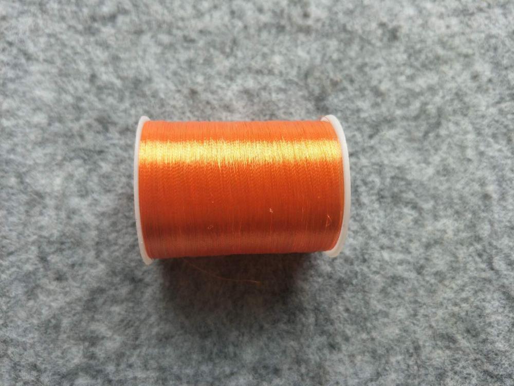 Металлическая нить для вышивки, аксессуары для одежды DIY, основные 15 видов цветов на выбор, нить для шитья, 1 шт - Цвет: orange