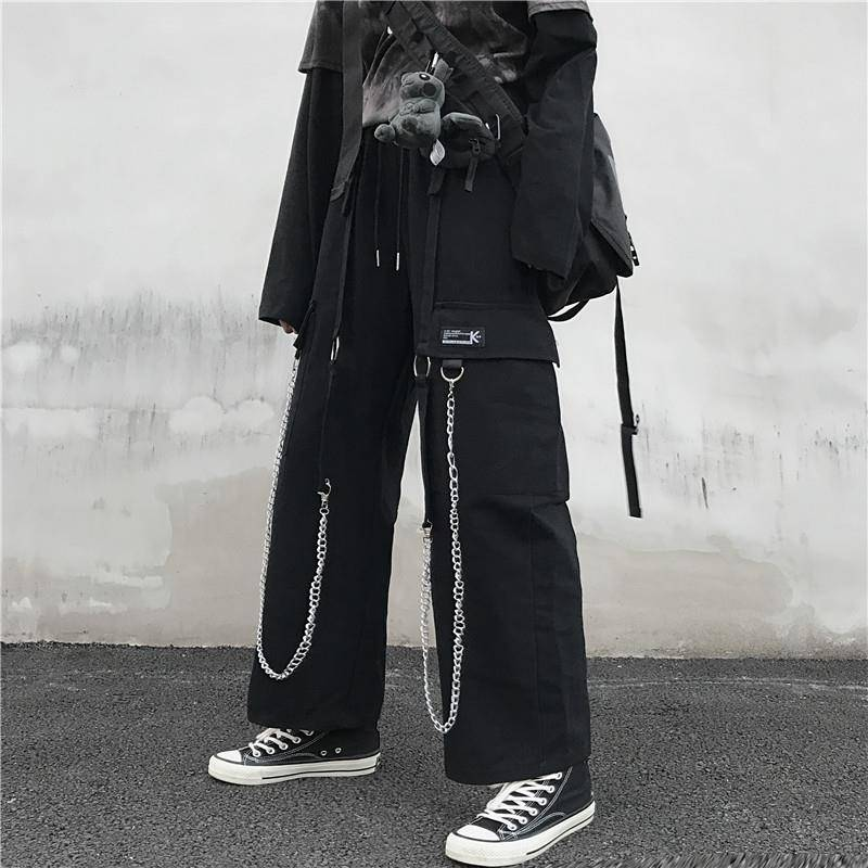 Autumn Winter Mens ins Harajuku Plus-Size Pants Hip Hop Casual Hot Sale High Quality New-Fashion Style Loose Streetwear Trousers