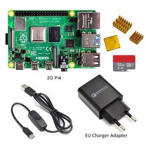 Image 3 - 2019 ใหม่ Original Raspberry Pi 4 รุ่น B 2 GB/4 GB Starter ชุด Power สายสวิตช์ EU /US Adapte และ 32G TF Card