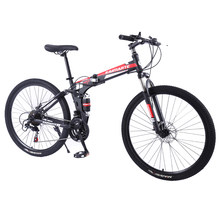 Nieuwe High Carbon Staal Mountainbike 24/26 Inch Mountainbike Student Fiets 21/24/27/30 Speed volwassen Fiets(China)