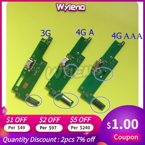 Wyieno For Huawei Y3-2 Y3 2 3G / 4G Micro USB Charger Y3ii Y3-ii Charging Port Connector Flex Cable Mic Microphone +tracking(China)