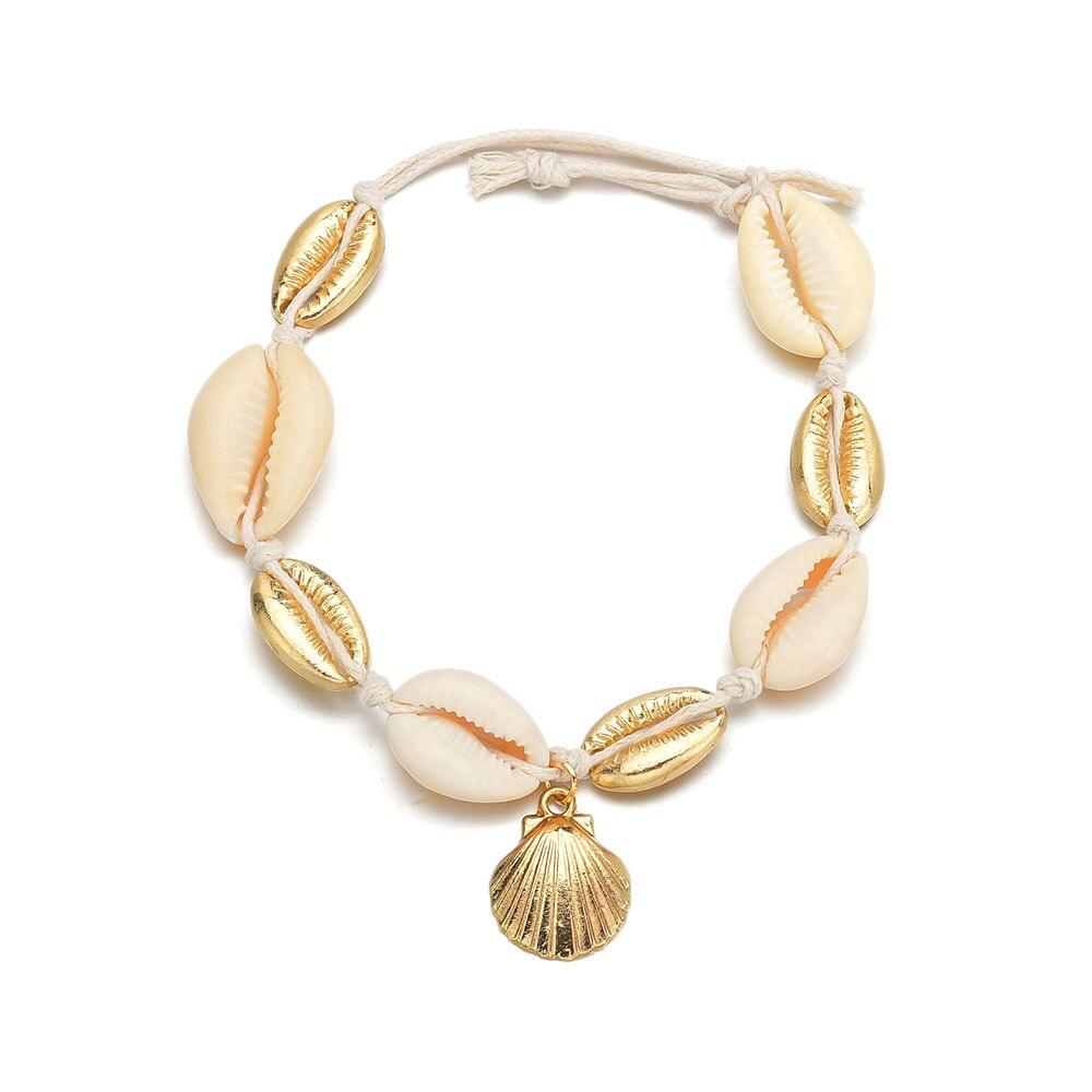 Summer Sea Shell Anklet Ankle Bracelets for Women Charms Scallop Seashell Anklet Bracelet on the Leg Female Chain on Foot