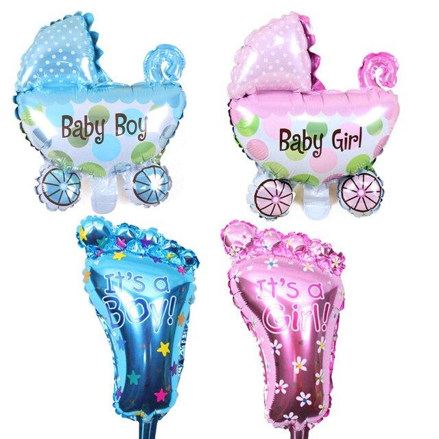 Fournitures de décoration pour fête prénatale | Accessoire photo, toile de fond rose or bleu, bannière guirlande de ballons it a Girl boy