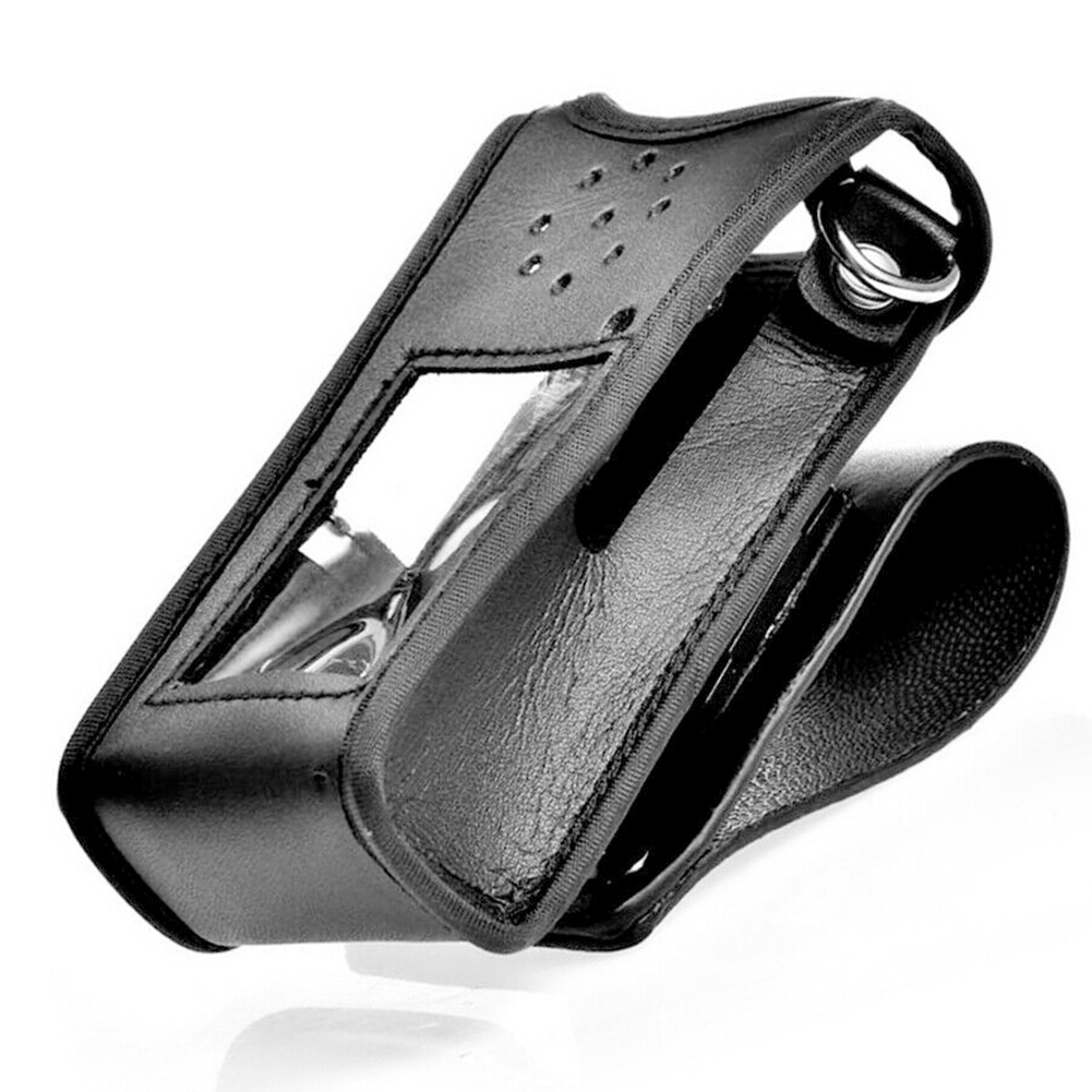 Adjustable PU Leather Pouch Buckle Belt Protective Cover Professional Walkie Talkie Sheath Waist Accessories For BF-UV9RPLUS