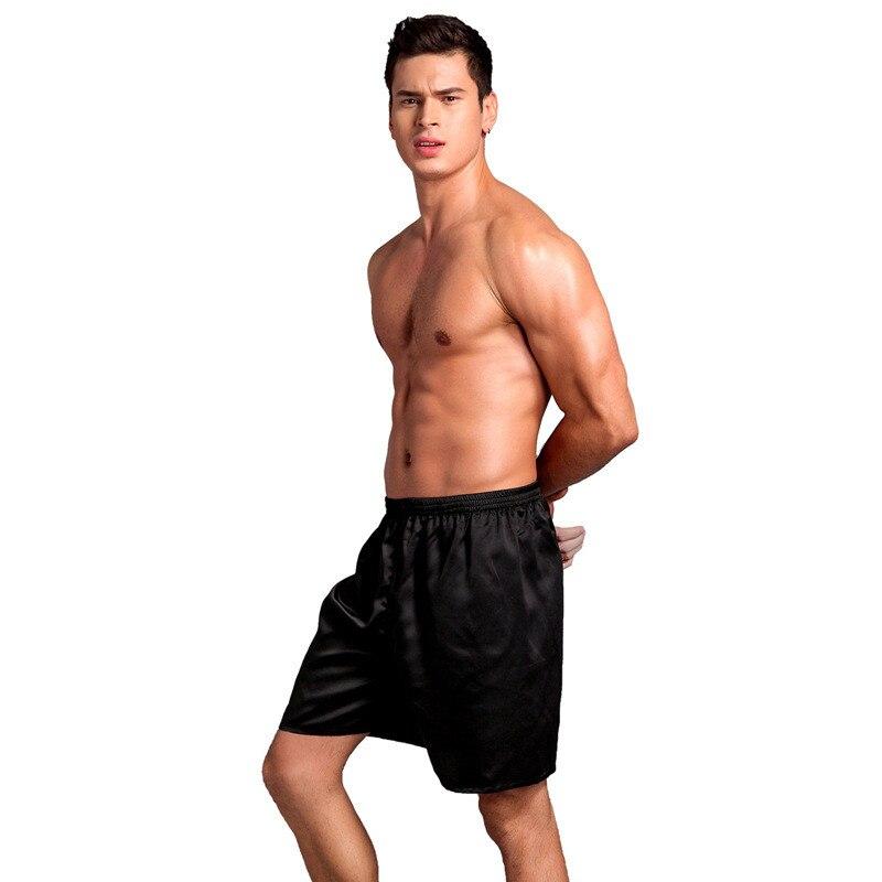 Pajama Pants For Men Short Silk Summer Sleep Bottoms