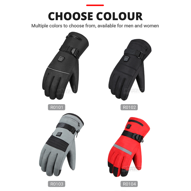 Winter Heated Biker Gloves  3
