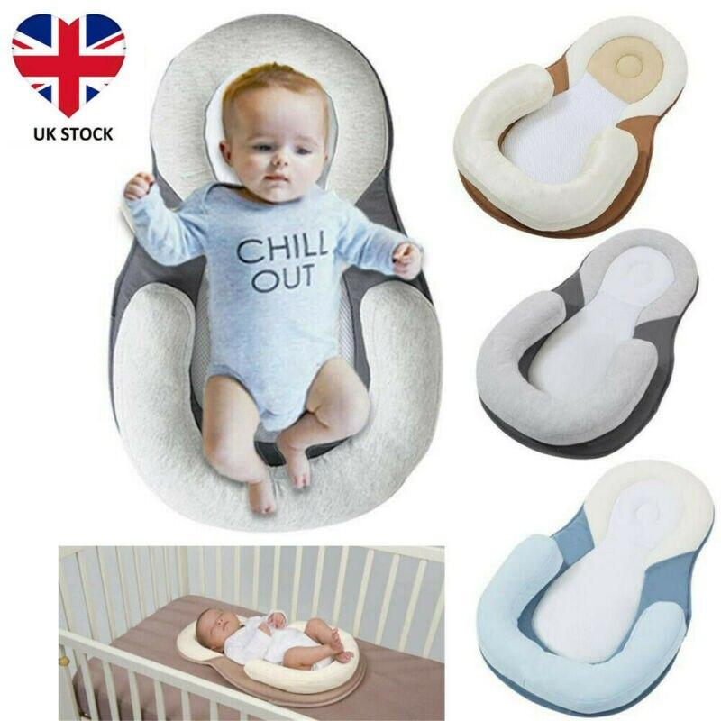 PUDCOCO Soft Infant Baby Newborn Pillow Cushion Prevent Flat Head Sleep Nest Pod Anti Roll Mattress