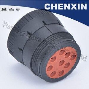 Image 5 - Черная 9 контактная герметичная фоторозетка 1,6, женские автомобильные аксессуары, проводной адаптер для подключения
