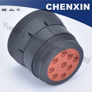 Image 5 - Czarny 9 pin uszczelniony wodoodporny automatyczne złącza wtyczka 1.6 kobiet akcesoria samochodowe połączenie przewodowe przejściówka adapter HD16 9 1939S