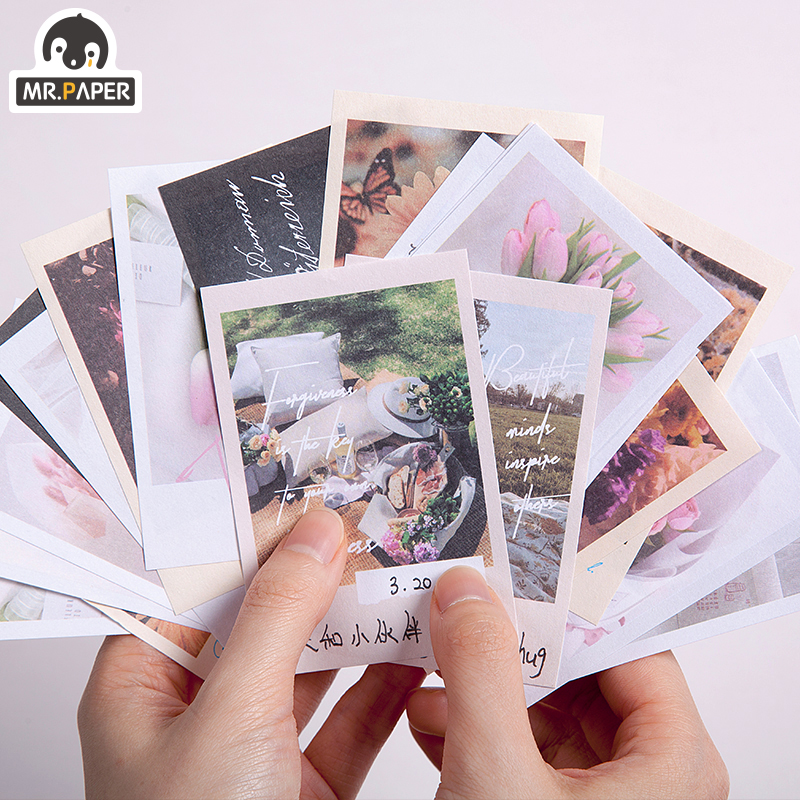 Mr.Paper Sunflower Botany Memory Picnic Series Loose Leaf Memo Pads Notepad Diary Writing Note Down Office School Supplies Gift