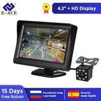 E-ACE J01 voiture/camion moniteur 4.3 pouces TFT LCD écran avec Auto inversion Parking ligne vue arrière caméra inversant les moniteurs de sécurité