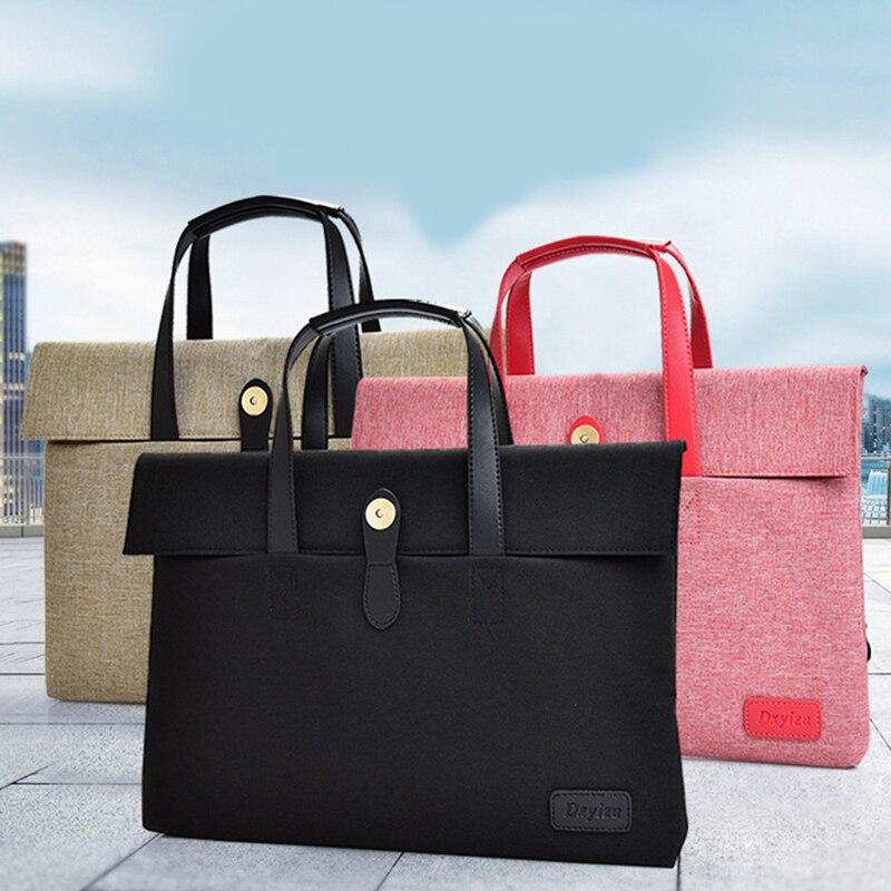 Women Men Briefcase Fashion Multifunction Unisex Zipper Laptop Bag Liner Bag Computer Bags Retractable Handle Computer Case