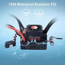 Remote control car Waterproof Sensorless Brushless ESC 150A Speed Controller for 1/8 RC Car Buggy Z406 titan 150a waterproof brushless speed controller esc for for rc 1 5 1 8 traxxas e revo traxxas summit hpi savage thunder tiger