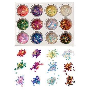 12 unidades/juego de herramientas de resina epoxi para bricolaje, polvo brillante, lentejuelas...
