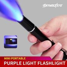 Envío Gratis Uv Ultra Led Linterna retroiluminación de luz 395 Nm lámpara antorcha Linterna portátil al aire libre 2021 nuevo