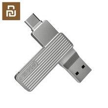 USB порт Xiaomi JESIS Type C, два интерфейса, флэш диск M1, вращение на 360 градусов, алюминиевый сплав, материал 120 флэш карт, можно использовать приложение