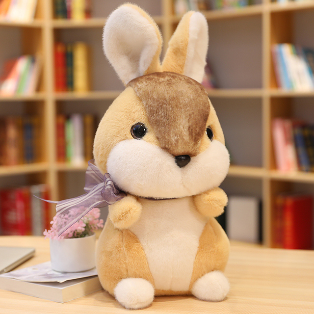 Plush Rabbit Doll Lifelike Rabbit Toys Stuffed Animals Toys For Children Kawaii Dolls Baby Birthday Toys For Girls Home Decor