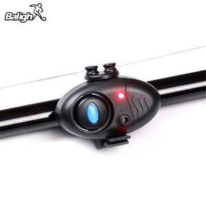 Image 1 - Fishing Electronic LED Light Fish Bite Sound Alarm Bell Clip On Fishing Rod Black Tackle TX005
