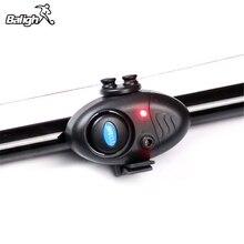 Luz LED electrónica para pesca, Clip de alarma de sonido para mordedura de pescado en caña de pescar, aparejos negros TX005