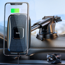 Hoco qi carregador de carro sem fio 15w suporte carregamento rápido para o iphone 12 pro max 12 mini telefone do carro magnético ventilação ar montagem