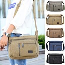 Outdoor Leisure Retro Business Bag High Capacity Canvas Bag Simple Version Shoulder Bag Diagonal Package Bag For Men Men s Big