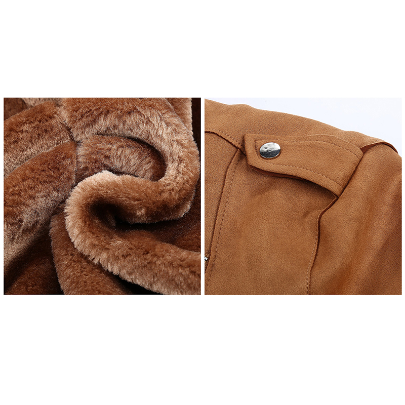 H7675969ec7e54421ae8e7a012ffb0df7w Giolshon 2021 New Winter Women Thick Warm Faux Suede Jacket Coat With Belt Detachable Faux Fur Collar Leather Jackets Outwear