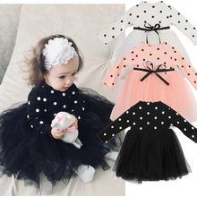 Одежда для маленьких девочек зимнее платье в горошек Новогоднее