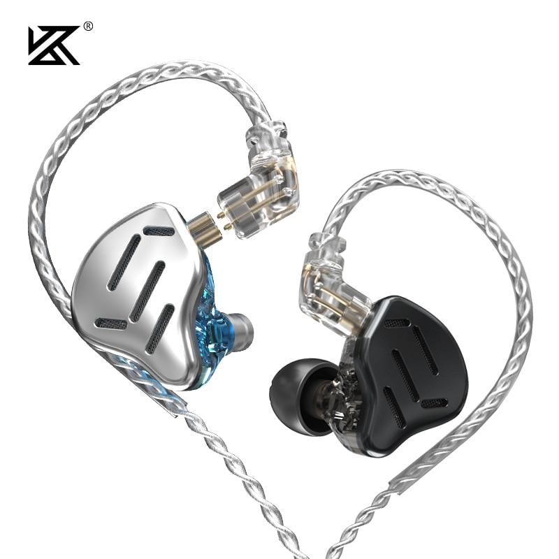 KZ ZAX Headset 16 Units HIFI Bass In Ear Monitor Hybrid technology Earphones Noise Cancelling Earbuds 7BA 1DD Sport Headphones