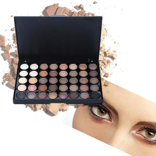 40 Color Eyeshadow Pallete Warm Color Smoky Makeup Palette Matte Multicolor Eyeshadow Palette Lasting Professional 1pc 4