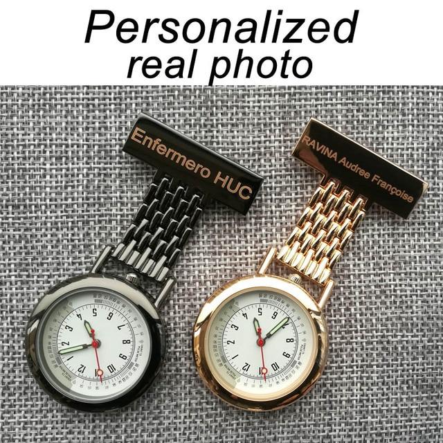 Мужские и женские кварцевые наручные часы с именем медсестер