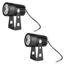 Долговечный водонепроницаемый алюминиевый 3 Вт светодиодный мини-светильник для газона, сада, прожектора, двора, патио, светильник для дорожки, лампа, холодный белый, DC 12 В