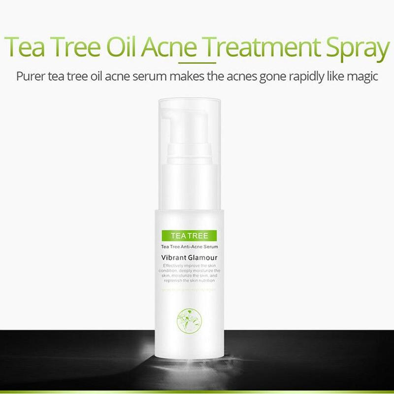 30ml Tea Tree Oil Acne Treatment Face Toners Anti Acne Scar Removal Shrink Pores Whitening Anti-aging Skin Care Tonico Facial