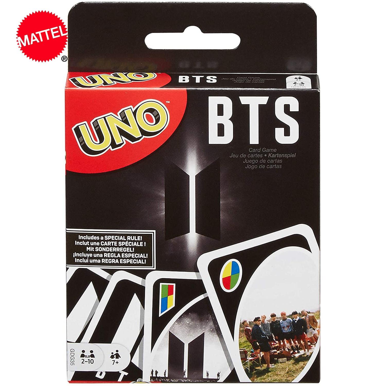 Mattel Games Подлинная UNO карточная игра BTS семейная сборная настольная игра для многопользовательского участия Карточные игры      АлиЭкспресс