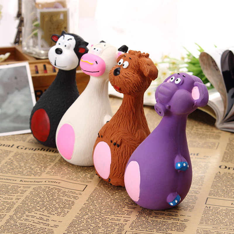 Dog Toys Latex Chew Squeaker Squeaky Sound Playing Toys Animal Shape Pet Puppy Dog Toy 9