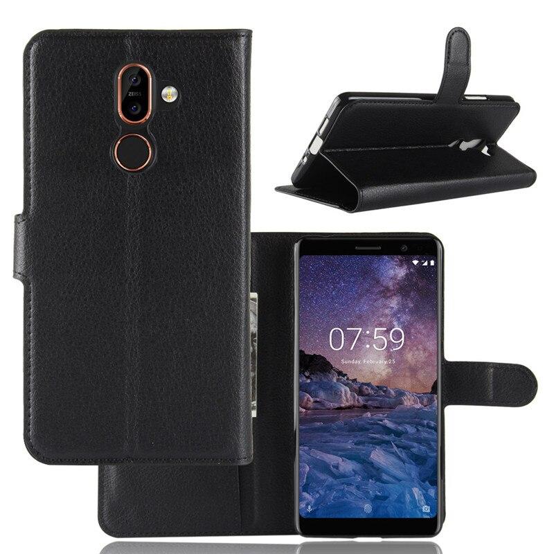 Чехол-книжка для Nokia 7 Plus, Роскошный кошелек из искусственной кожи, чехол для телефона Nokia 7 Plus, Nokia7 Plus, Nokia7plus, TA-1046, чехол, задняя крышка