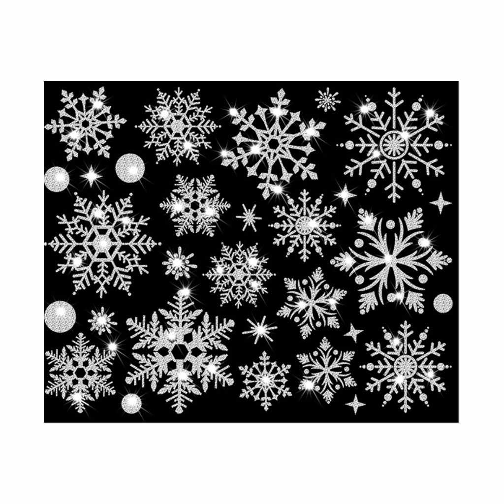 New Year wallpaper New Christmas Snowflake Window Sticker Wall Sticker Door Sticker snowflake electrostatic Sticker Window Kids