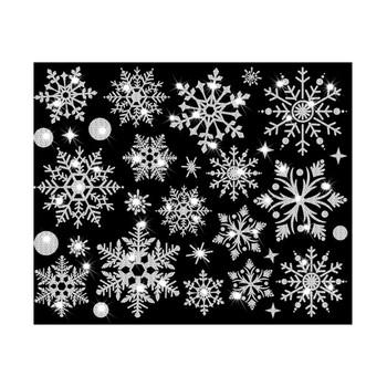 Nowe boże narodzenie śnieżynka okno naklejka naklejka ścienna naklejka na drzwi tanie i dobre opinie CN (pochodzenie) Płaska naklejka ścienna cartoon For Wall Naklejki na meble naklejki okienne Jednoczęściowy pakiet Na szkło lub do łazienki