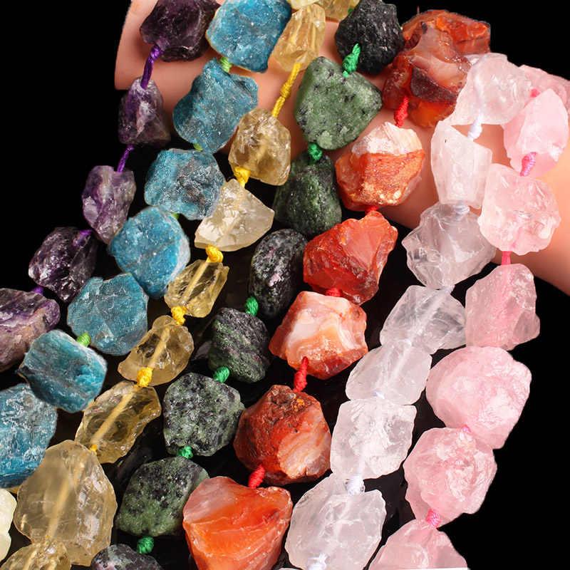Natürliche Aquamarin Amethyst Kristall Karneol Freeform Raw Stein Lose Lrregular Perlen 18-28mm Mineralien Perlen Diy Schmuck Machen