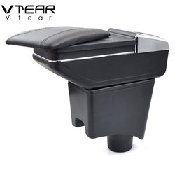 Vtear For Dacia Renault Sandero Armrest Interior Center Console Storage Box Arm Rest Car-styling Decoration Accessories Parts