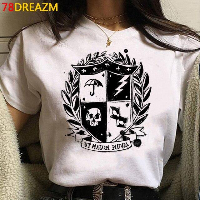 the Umbrella Academy tshirt top tees femme streetwear harajuku kawaii print plus size t shirt clothes harajuku white t shirt 4