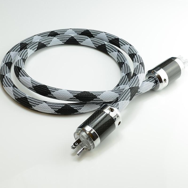 Haute qualité Hi-End OCC 4 câble d'alimentation carré US AC cordon d'alimentation câble HIFI câble d'alimentation