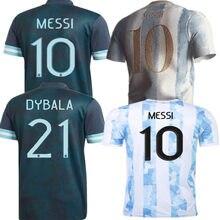 Adulti new 20 21 ArgentinaES Shirt KUN AGUERO L. MARTINEZ MARADONA DI MARIA OCAMPOS OTAMENDI MESSI DYBALA camicia DI alta qualità