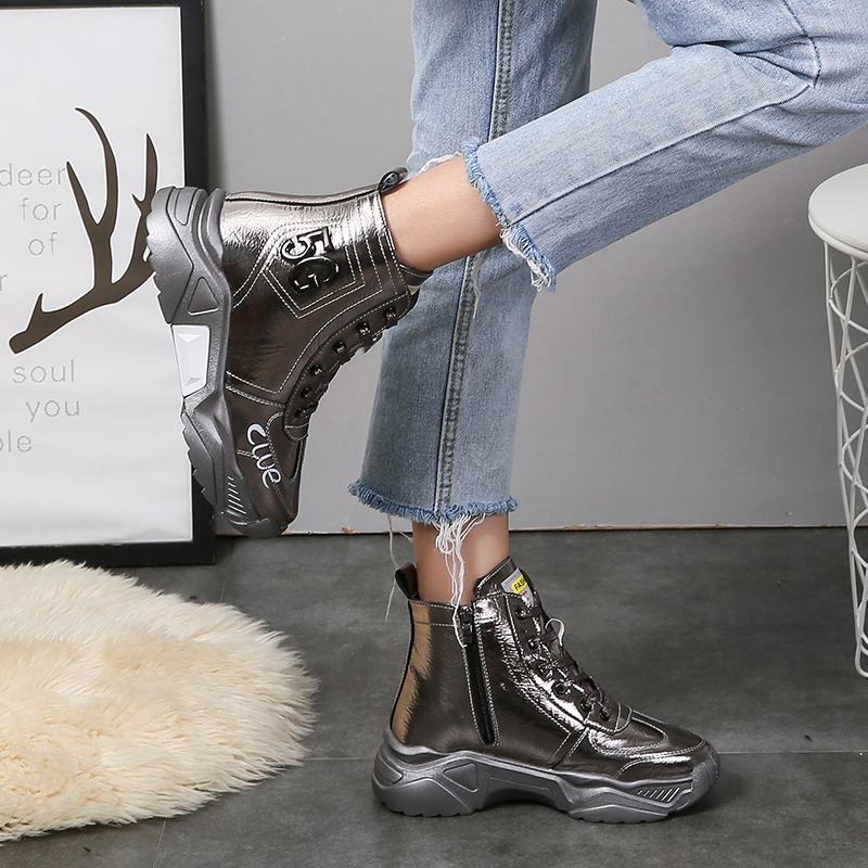 TUINANLE Shoes Woman Symphony PU Leather Sneakers Women Sewing Patchwork New Arrival Platform Shoes Bling Zapatos De Mujer