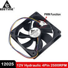 1PCS Gdstime Hydraulic 120mm x 25mm 12cm PWM FG Computer Case Cooling Fan 4 Pin Cooler