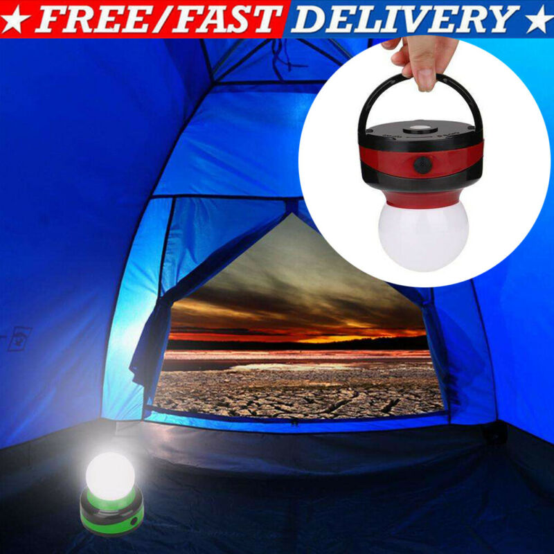 LED Outdoor Camping Light Portable Umbrella Tent Night Lamp Hiking Lantern Send In Random Color