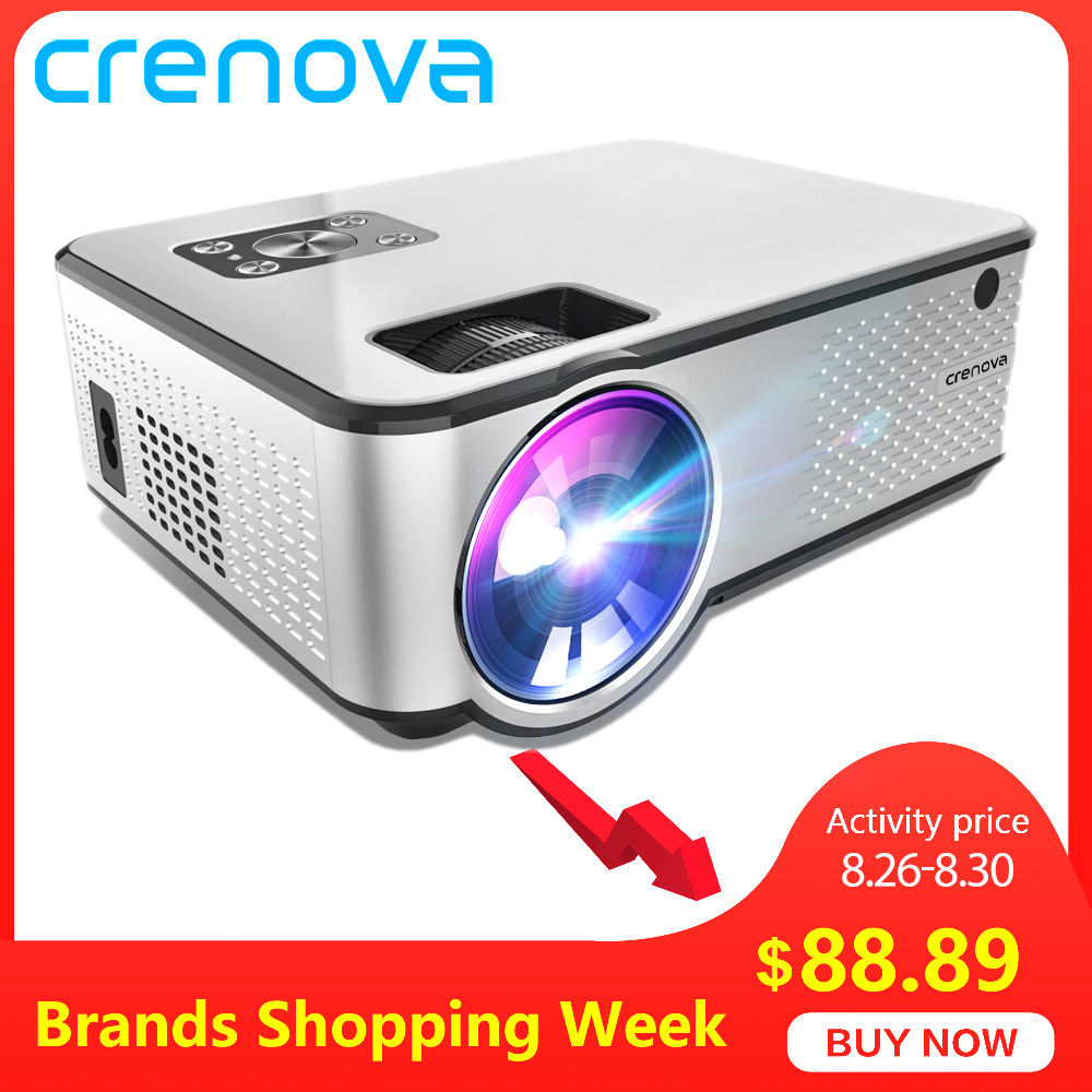 CRENOVA Home Cinema Video-Projector Support Videos Movie HDMI 4K Via Android 1280--720p