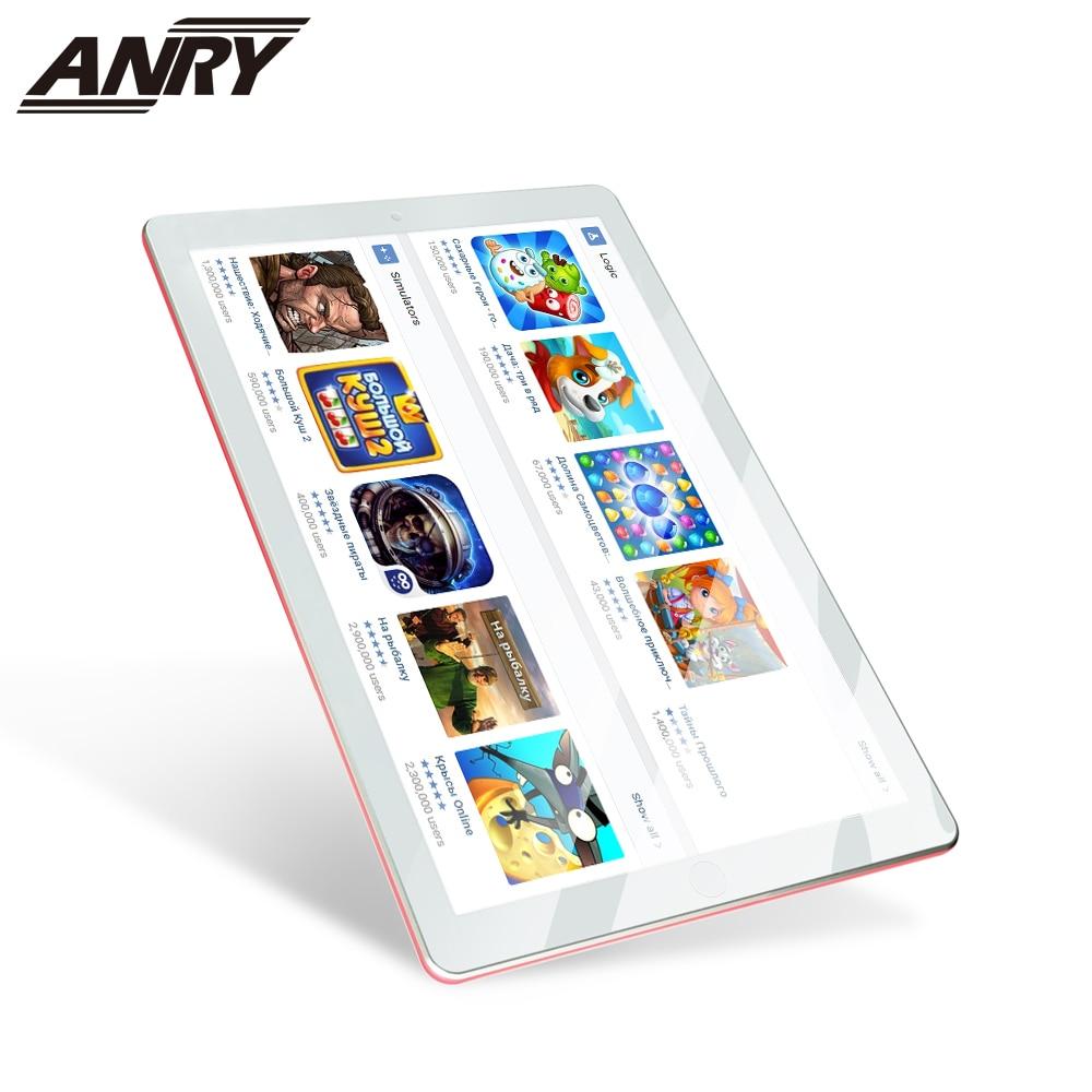 ANRY 3G Phone Call Tablet 10 Inch Dual Sim Card Slot Android 7.0 Wifi Bluetooth GPS Quad Core 1GB RAM 16GB ROM Tab