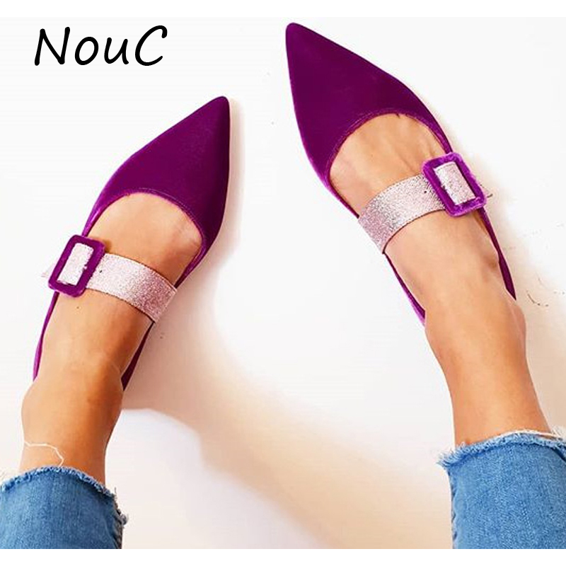 Customized Women Flats Shoes 2020 Spring And Summer Women Pointed Toe Single Shoes Fashion Flat Sandals Plus Size 35-43